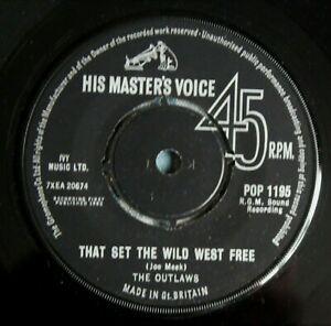 "THE OUTLAWS That Set The Wild West Free UK 7"" HMV POP 1195 NMINT 1963 Joe Meek"