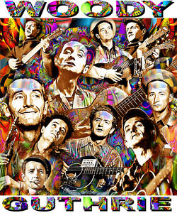 WOODY GUTHRIE TRIBUTE T-SHIRT OR PRINT BY ED SEEMAN