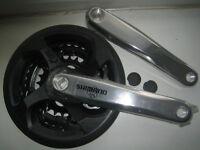 Shimano cycle / bike triple crank crankset chainwheel 24/34/42 FC-M131 Inc Guard