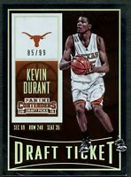 Kevin Durant Longhorns #57 Panini Contenders 2015 Draft Ticket #85/99 Card C2450