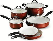 Tramontina Style Ceramic 10 Piece Nonstick Cookware Set Metallic Copper NEW