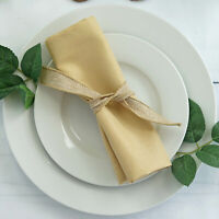 "25 pcs Champagne Polyester 17x17"" TABLE NAPKINS Wedding Party Kitchen Linens"