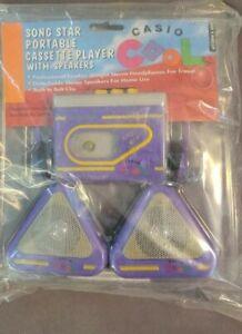 Casio Walkman KM-110 90's era Cassette Player - New Sealed - Headphones Speakers