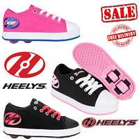 Heelys X2 Fresh Kids Wheels Girls Roller Skates Shoes Pink Black Unisex Trainers
