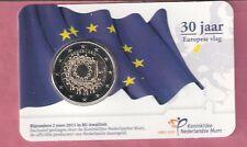 NEDERLAND BU COINCARD 2 EURO 30 JAAR EUROPESE VLAG 2015