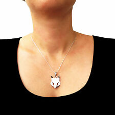 Necklace Fox Wolf 925 Sterling Silver Chain with Animal Pendant