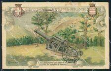 Militari II Reggimento Artiglieria Pesante Olivetti PIEGHE cartolina XF0340