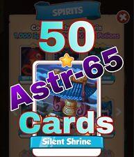 Coin Master :-) 50x Silent Shrine Card- Lighting Fast Sending Speed