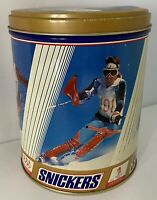 Vintage 1992 Snickers USA Olympic Ski Team Collectible Metal Tin Winter Games
