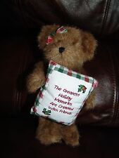 """Boyds Bear 1988 - 2004 Greatest Holiday Memories are Created w/ Friends Doll 8"""""""