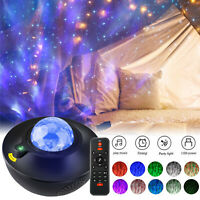 LED Galaxy Starry Night Light Projector Ocean Star Sky Party Speaker Remote Lamp