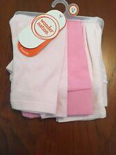 Wonder Nation Baby Girls 0-3 Months Pants Set Of 3 Nwt Light And Dark Pink Strip