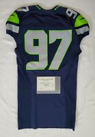 Seattle Seahawks Blank #97 Team Issued Home Jersey with COA - SA 09329