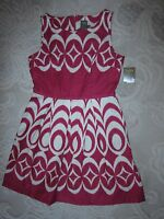 NWT Taylor brand pink & beige cotton sundress full skirt #5312M, ladies' size 10
