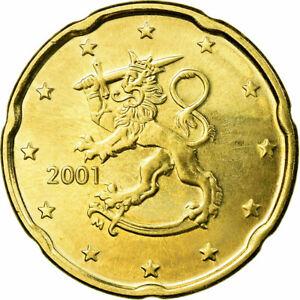 [#722563] Finlande, 20 Euro Cent, 2001, SUP, Laiton, KM:102