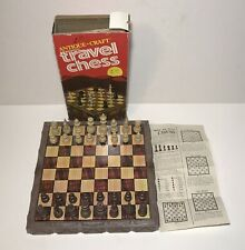 Vintage Magnetic Travel Chess Antique Craft Cardinal With Box And Manual