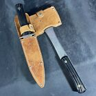 Vintage UTICA SPORTSMAN U.S.A. Hatchet And Fixed Blade Knife With Double Sheath