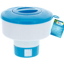 """Floating Chlorine 3"""" Tablet Swimming Pool Chemical 7"""" Dispenser Collapsible Tank"""