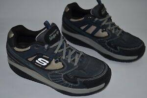 Skechers Mens Sport Shape Ups XT Regimen Walking Gym Sneakers Blue Shoes Size 9