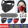 Reusable Mask W/Purifying Carbon Filter Anti Haze Fog Respirator Mouth Set US