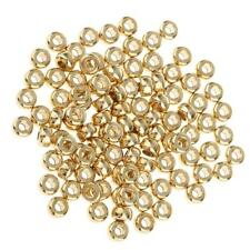 100pcs DIY Brass Loose Beads Small Spacer Beads for Buddha Beads String 5mm