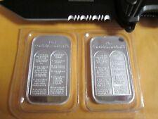 2 x 1oz TEN 10 COMMANDMENTS .999 PURE SILVER BARS  Bible money  Gods law