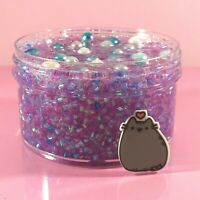 "SCENTED Clear SLIME ""DREAMEOW"" BINGSU Beads Crunchy Glitter Charm 6 8 oz"