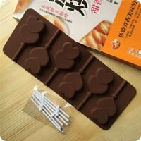 New Double Heart Silicone Lollipop Chocolate Mold Candy Fondant Cake Tools