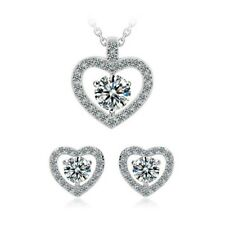 Centre of My Heart Necklace and Earrings Set CZ Cubic Zirconia - CRYSTALA