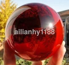 Red Asian Natural Quartz Magic Crystal Healing Ball Sphere 40mm Stand Gift AU