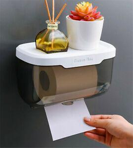 Porta Carta Igenica Impermeabile biadesivo ultra-forte per bagno rotolo carta