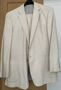 Marks & Spencer Classic Tailoring Mens 2 Piece Cream Linen Suit