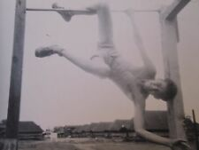 VINTAGE 1944 MONKEY BOY YOUNG MAN HANGING AROUND MAYWOOD IL SOLDIER BRIEFS PHOTO