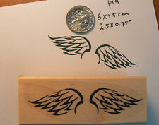 P19 Wings rubber stamp WM 2.5x0.6""