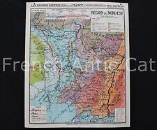 P485 Carte scolaire France Région naturelle Nord est Vosges Alsace Hatier 7