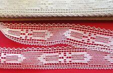 MERCERIE ancienne dentelle blanche1.Mx3cm@RUBBON lace