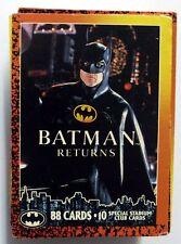 COMPLETE SET OF 88 TRADING CARDS BATMAN RETURNS 1992 DC MINT (29)