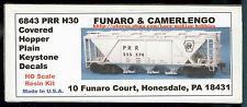 Funaro F&C 6843 H30 Covered Hopper   PRR   PENNSYLVANIA   Plain Keystone Kit