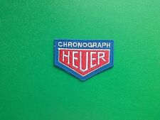 MOTOR RACING OILS, FUELS & TYRES SEW ON / IRON ON PATCH:- CHRONOGRAPH HEUER (d)