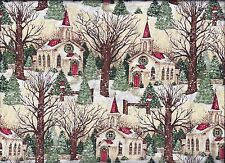 Christmas Church curtain valance