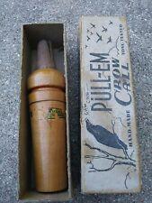 Vintage scarce Oliveros Pull-Em hand made crow Call With original Box nice