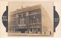 Toledo OH Art Nouveau News Boys Club of America Auditorium Sign~Fling RPPC 1909