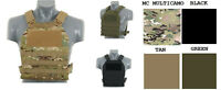 Airsoft type Plate Carrier multicamo green coyote black chest rig tactical molle