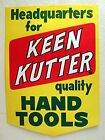 Vintage Keen Kutter Hand Tools Hardware Store Paper Sign Unused Old Store Stock