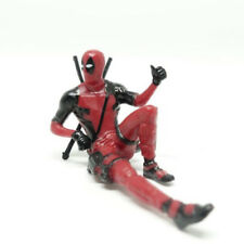 Rare Deadpool  Puttito Mini Figure Red Color In Stock Computer Screen Decoration