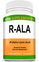 R-ALA R-Alpha Lipoic Acid 200mg 90 capsules Blood Sugar Formula Glucose Support