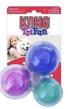 Kong Tri-Fun Triangle Dog Puppy Toy - Squeaky - Crackles