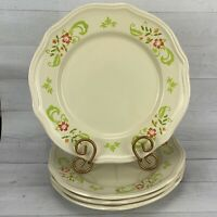 Better Homes and Garden CITRUS BLOSSOMS Stoneware Floral Dinner Plates Set 4