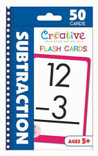 NEW 50 Subtraction Flash Cards Kindergarten First Second Grade Teaching Ages 5+