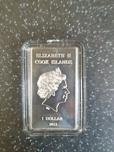 1×10 Grams Silver Cook Island Valcambi Suisse Bar.999 Purity In Capsule New